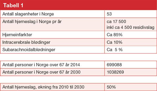 hjerneslag statistikk norge